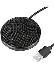 Nbrand LarmTek USB-microfoon voor computer, conferentiemicrofoon, plug-and-play, omnidirectionele condensatormicrofoon, compatibel met Windows en Mac voor opnamen, Skype, chatten