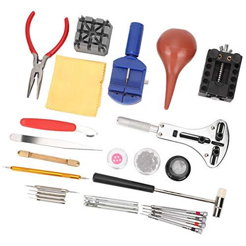 27PC Kit de reparación de relojes Reemplazo de la lavadora Ajuste de la correa del reloj Herramientas de reparación del reloj Quitar el pasador de enlace del reloj Barra de resorte Acero de