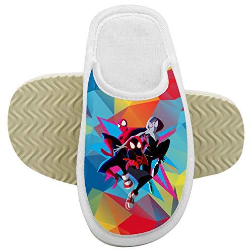 971 Mi-les Mor-ales 5 pantuflas antideslizantes para casa de niños, espuma viscoelástica, algodón para interiores y exteriores, para niños y niñas