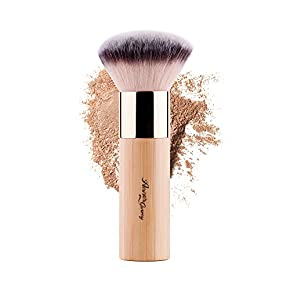 ANNE'S GIVERNY Makeup Foundation Brush Bronzer Loose Powder Blush Finish Airbrush Buffer Contour Kabuki Blender (Bamboo)