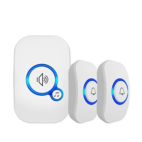 LZW Funk-Türklingel Sicherheit zu Hause Alarm/smart willkommen Türklingel 3 in 1 Multifunktions-Türknopf 433MHz einfach Smart Home Türklingel installieren,3