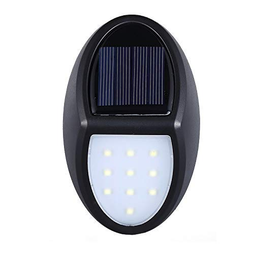 CKQ-KQ Buitenverlichting Solar Lights Outdoor 10 LED, Tuinlampen met Sensor, IP65 Waterdichte nachtlampjes plug in wall On/Off Dusk to Dawn gebruik voor Voordeur, Patio, Yard, Hek, Tuin, Oprit,