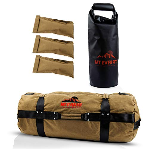 Sandbag Workout Bag & Sandbag Kettlebell Set - Heavy Duty Functional Triple Stitched Fitness Sandbags Made from 1050 Cordura with 8 Thick Foam Padded Handles & 3 Inner Bags W/Inner Lining