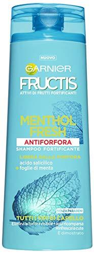 Garnier Fructis Shampoo Anti-Schuppen-Menthol Fresh mit Salicylsäure und Blättern von Minze, ohne Parabene, 250ml–1Packung von 2Einheiten