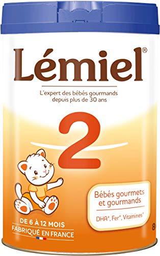 LEMIEL - Lait 2ème âge en poudre de 6 à 12 mois* 800g - Fabriqué en France