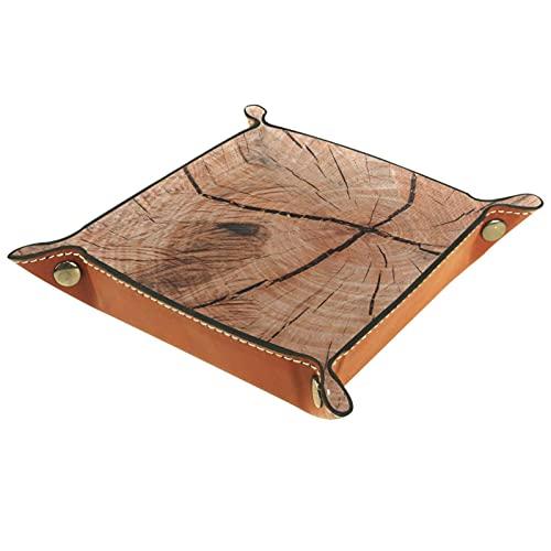 Bandeja de joyería de grano de madera vieja para carteras, relojes, llaves, monedas, teléfonos celulares y equipos de oficina