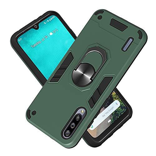 Hülle für Xiaomi A3 mit Standfunktion, PC + TPU Rüstung Defender Ganzkörperschutz Hard Bumper Silikon Handyhülle stossfest Schutzhülle Case (Dunkelgrün)