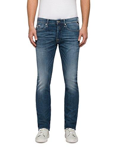 Replay heren WAITOM Straight Jeans, blauw (Blue Denim 9), 32