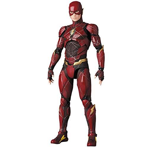 WXFQX MAFEX 058 DC Justice League The Flash BJD PVC Action Figure Sammeln Modell Spielzeug 15 cm Geschenke für Kinder