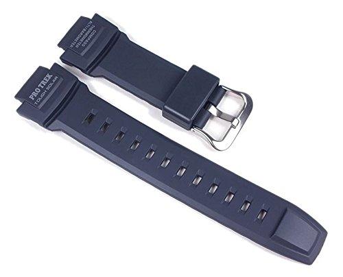 Casio Protrek Tough - Correa de reloj solar (resina), color azul oscuro