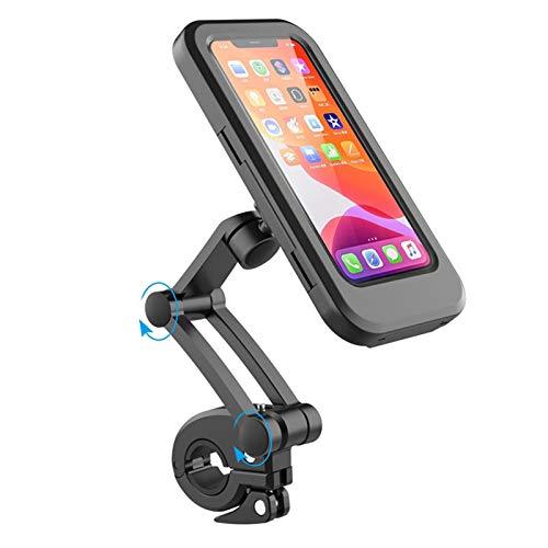 GUANJIAN Soporte De TeléFono MóVil para Bicicleta, Soporte De Smartphone Impermeable con Pantalla TáCtil, Giratorio 360°,para Bolsa De Bicicleta con Soporte para TeléFono De Menos De 6.5 Pulgadas A