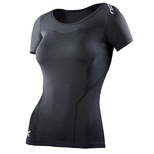 2XU T-Shirt de Compression à Manches Courtes pour Femme Noir Noir Moyen