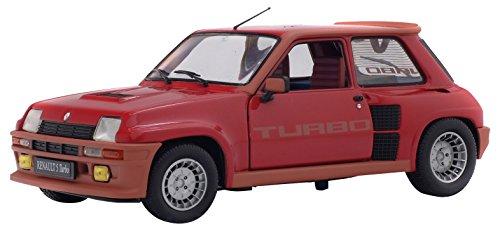 Solido S1801302 - Renault 5 TURBO 1984, Rojo, modelo en miniatura (Escala 1: 18)