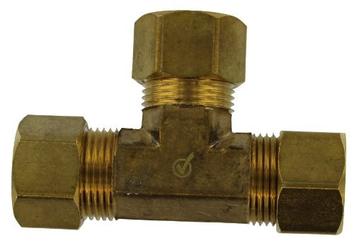 Anderson Metals 750064-10 5/8-Inch Low Lead Tee, Brass by Anderson Metals