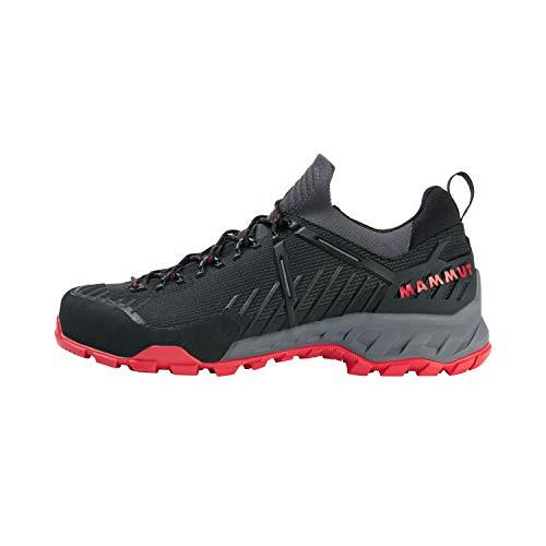 Mammut Herren Zapatilla ALNASCA Knit II Low Sneaker, Black/Spicy, 44 EU