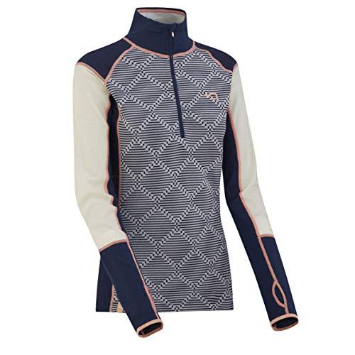 Kari Traa Rett Sweat avec Demi-Zip Femme, nava Modèle XL 2019 sous-vêtement