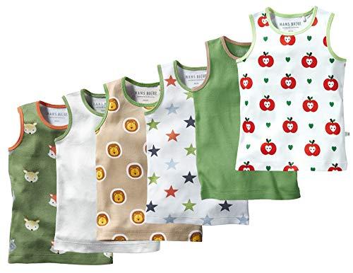 Bio Kinder Unterhemd 100% Bio-Baumwolle (kbA) GOTS zertifiziert, Unisex 6er-Set, 98/104
