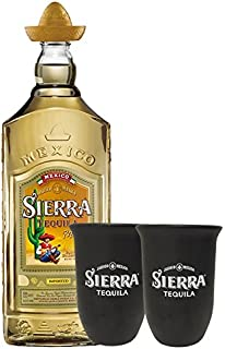 Sierra Tequila Gold 0,7 Liter  2 Stück Sierra Tonbecher