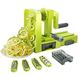 kalokelvin Spiralizer Vegetable Slicer Spiral Slicer 5 Blade for Thick and Thin Pasta
