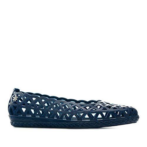 Andrés Machado - Ballerinas für Damen und Mädchen – AM188 - Kunststoff Sandalen/Gummisandalen aus PVC mit breitem Fußbett - für Strand und Schwimmbad – Marineblau, EU 37