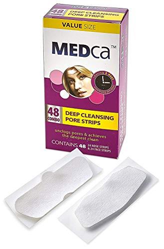 Confezione combinata di strisce per pori per la pulizia profonda MEDca, 48 strisce di conteggio