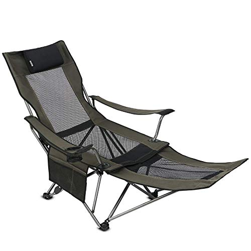 OUTDOOR LIVING SUNTIME Camping Folding Portable Mesh Chair with Removable Footrest.
