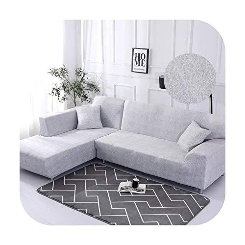 Funda de sofá elástica de algodón que necesita pedir 2 piezas de fundas para una funda de sofá esquinera en forma de L para el salón de color liso. Color 18 – 1 seat 90 – 140 cm