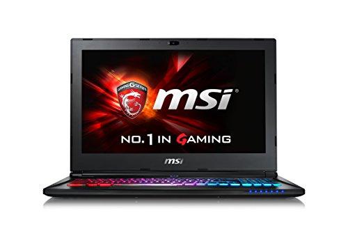 MSI GS60-6QE4K16H21 0016H7-SKU1111 39,6 cm (15,6 Zoll) Laptop (Intel Core i7 6700HQ, 16GB RAM, 1TB HDD/SSD, NVIDIA GeForce GTX 970M, Win 10 Home) anthrazit/schwarz