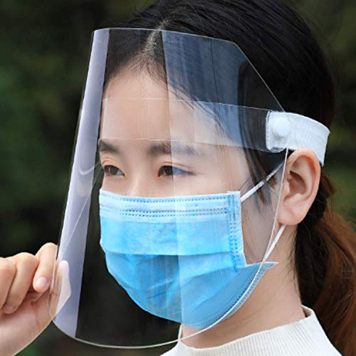 3 Pack, All-Round Protection Cap with Clear Wide Visor Spitting Anti-Fog Lens, Lightweight Transparent Shield with Adjustable Elastic Band for Men Women