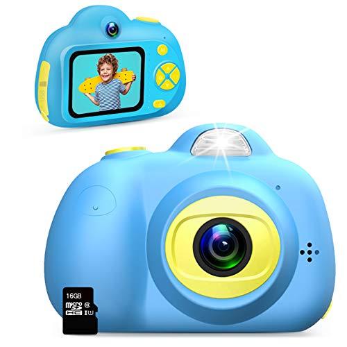 Dreamingbox Geschenke für Jungs ab 3 4 5 6 7 8 9 10 Jahre, Digitalkamera für Kinder Kinderkamera 3-10 Jahre Junge Geschenk Spielzeug für Jungen 3-10 Jahre Spielzeug 3-10 Jahren Junge Kindertag(Blau)