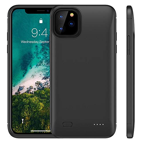 Huije Custodia con batteria per iPhone 11 Pro [6200 mAh] ricaricabile, con batteria estesa, custodia protettiva con batteria esterna portatile da 5,8''