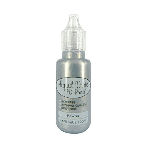 Ultimate Crafts Liquid Drops 3D Pearls Farbe Pewter 20 ml