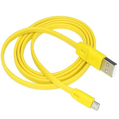 Adhiper UE Boom Cargador Cable de alimentación Cable de carga Plano de Repuesto Compatible con UE Boom Boom2 for Megaboom Miniboom Roll Altavoz Inalámbrico (1/amarillo)