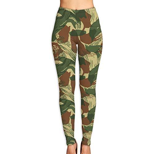 High Waist Rhodesian Brushstroke Yoga Pants, Super Soft Capri Leggings Tommy Control Capris for Women White