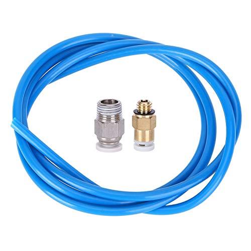 Juego de boquillas remotas para impresora de 1 m a 2 m, conector neumático M10, conector neumático M6, 3 piezas, tubo de alimentación remota para impresora 3D (2 m)