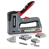 WORKPRO Staple Gun, 6-in-1, Manual Brad Nailer with 4000 Counts Staples, Upholstery Stapler Nail Gun for Fixing Material, Decoration, Carpentry, Furniture, Doors and Windows