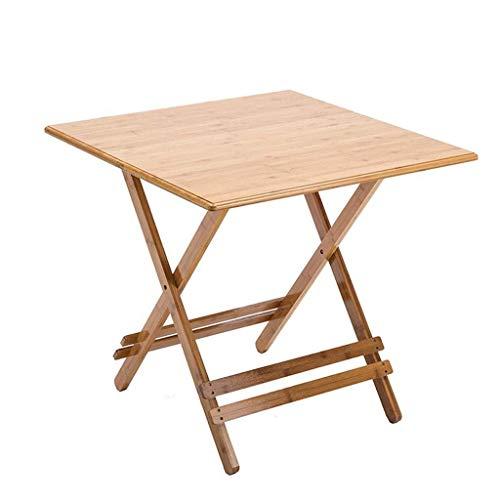 Z-GJM Outdoor Esstisch Tragbarer Klapptisch Klapptisch Quadratischer Klapptisch aus Holz Tragbarer Esstisch Laptop Klapptisch