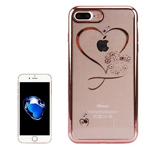 ZHANGYOUDE Para iPhone 8 Plus y 7 Plus Caja de protección de TPU con Incrustaciones de Diamantes de galvanoplastia (Color : Rose Gold)