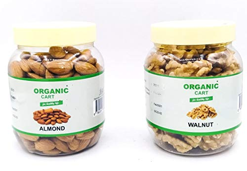 Organic Cart Natural Dry Fruits Gift Box Combo from Amazon Pantry Almond 250 G Walnut 200 G - 450 Grams