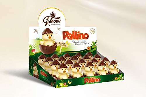 Confezione Regalo di PASQUA'PALLINO',simpatici pulcini di cioccolato al latte decorato a mano 20x30 Gr.