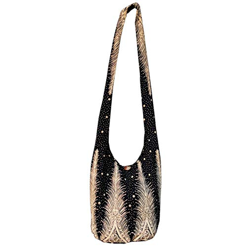 Panasiam© Bolso bandolera, 2 tamaños, diseños modernos y muchos colores, con material interior extra y bolsillo interior para móvil, calidad de primera