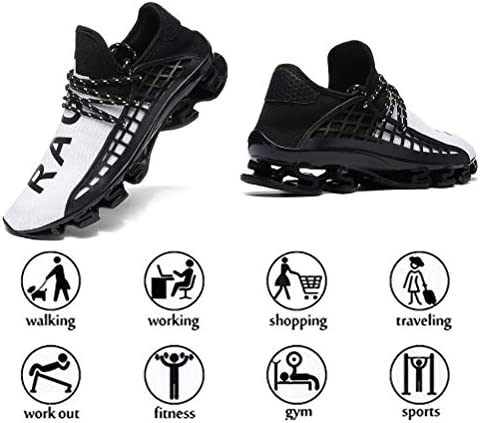 Ahico Mens Running Sneakers Walking Shoes Mesh Breathable Lightweight Tennis Comfortable Sport Casual Athletic Workout