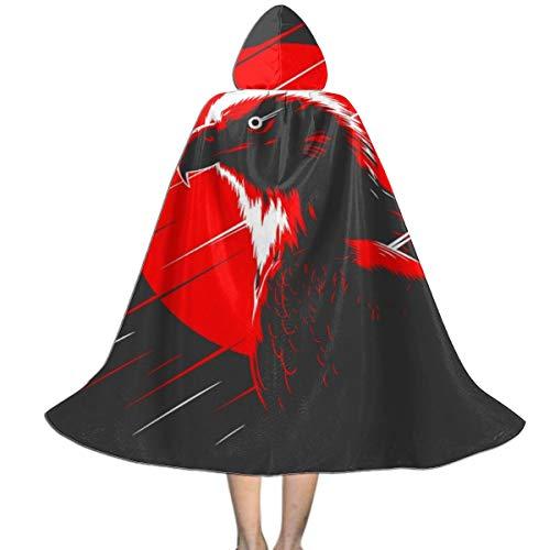 OJIPASD Capa con Capucha para niños, Unisex, diseño de águila roja, Ideal para Halloween, Navidad, Fiestas y Disfraces