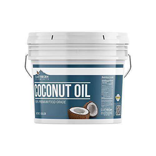 Coconut Oil (1 Gallon) Pure & Non-GMO, Refined & Filtered, Expeller-Pressed, Non-Hydrogenated & Food Grade Skincare