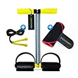 INCHDOWN Tummy Trimmer Ab Exerciser, Sweat Slim Belt and Skipping Rope Combo for Men and Women - Fitness Equipment for Home