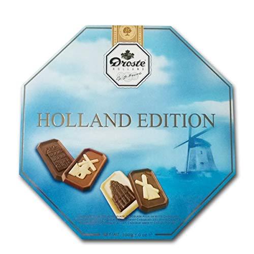 Droste Chocolade Holland Edition Sortiment Vollmilch, Zartbitter und Weißer Schokolade 200g