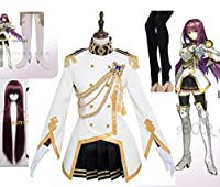 Fate/Grand Order 特典 魔境のサージェント スカサハ コスプレ衣装+ウィッグ+靴 風 全セット
