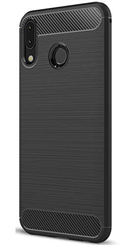 XINFENGDI Asus Zenfone 5Z ZS620KL Hülle, Tasche mit Stoßdämpfung Robuste TPU Stylisch Karbon Design Handyhülle Hülle Hülle für Asus Zenfone 5Z ZS620KL - Schwarz