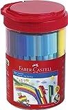 Faber-Castell 155550 - Confezione di 50 pennarelli Connector, in scatola