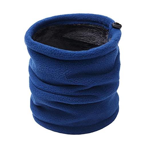 EElabper Calentador del Cuello Polaina De La Redecilla De La Bufanda De Cobertura De Invierno De Esquí De La Mascarilla del Beanie Sombrero Aire Libre para Los Hombres De Mujeres (Azul)